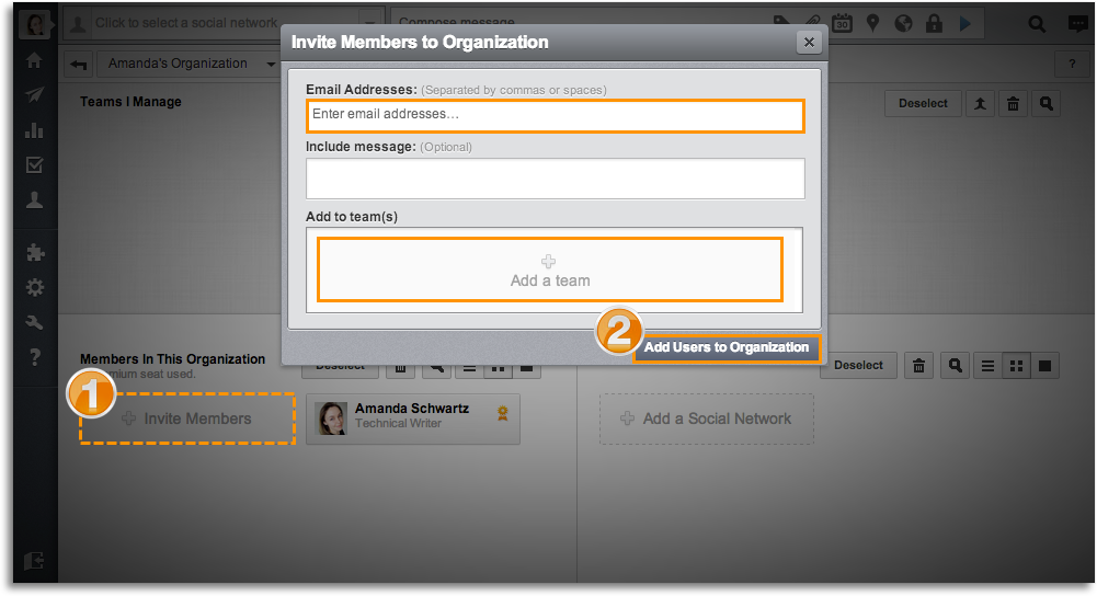 Adding members to Hootsuite