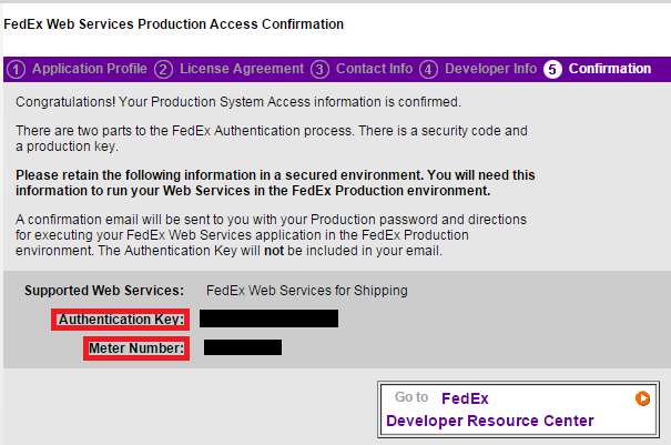 fedex authentication key.PNG