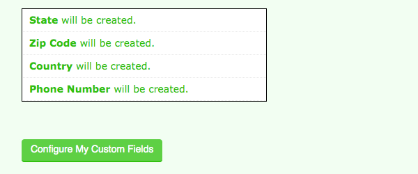 Click Configure My Custom Fields